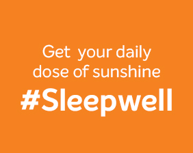 Get your daily dose of sunshine. Sleepwell..!